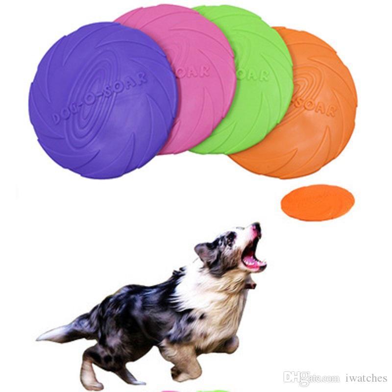 Pet gato e silicone cão frisbee descompressão lance divertido resposta ao treinamento brinquedo criativo do frisbee cão interativo