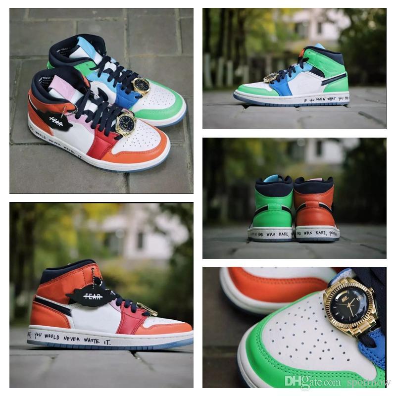 Melody Ehsani x Zapatos Medio WMNS Sin Miedo Baloncesto 2019 de diseño de moda Multi Colores para hombre de las zapatillas de deporte Deporte Con El Reloj 5,5-11