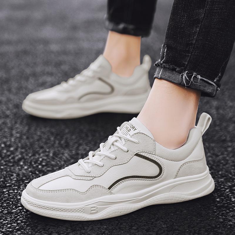 da moda Sneakers Couro homens sapatas dos homens confortáveis sapatos casuais ao ar livre rendas respirável-se homens Homem Sapatilhas