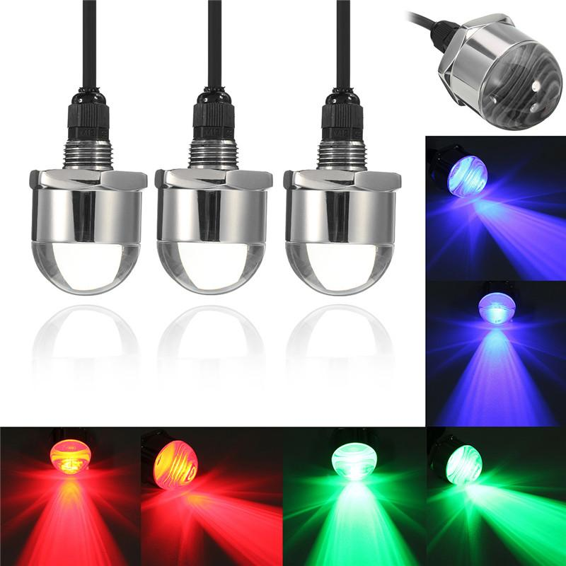 Freeshipping 12V LED Underwater Boat Lights 9W Waterproof IP68 6 LED Yacht Boat Drain Plug Led Light Bulb With Connector