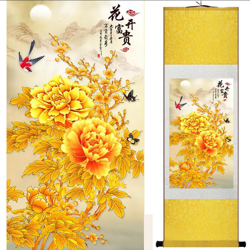 Birds And Flower Painting Home Office Decoration Chinese Scroll Painting Birds Painting Spring Pictures 19041801