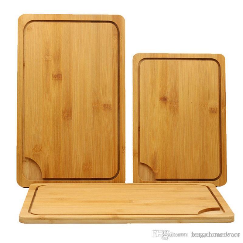 Japon Mutfak Antibakteriyel Kesme Tahtası İşlevli Bambu Doğrama Blokları Kesim Ekmek Tatlı Biftek Doğrama Plakası BH1296 TKY