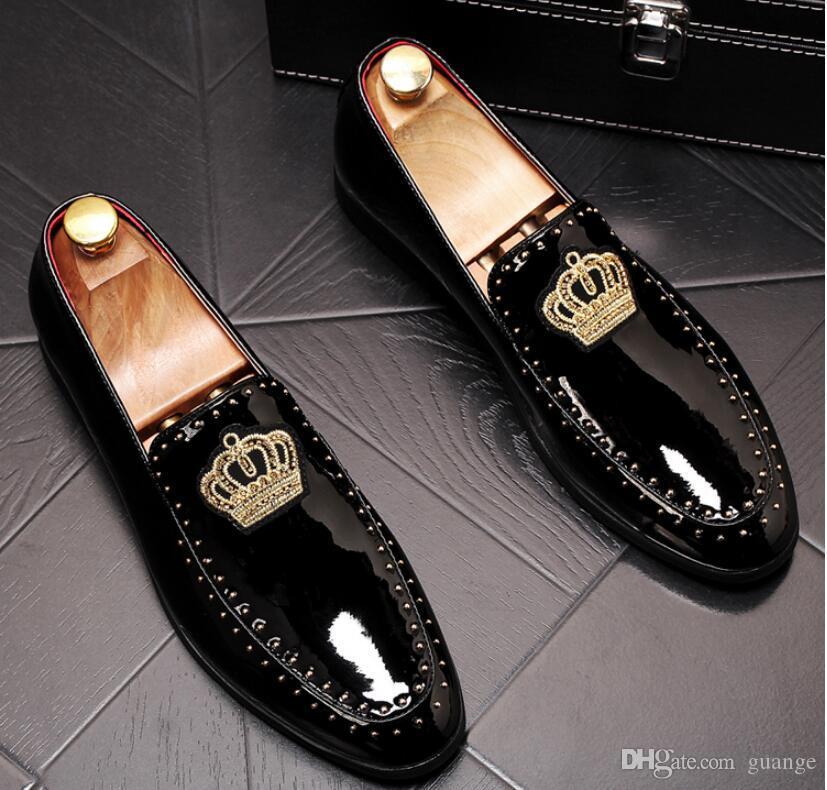 Para promover nuevos zapatos de cuero rojo de las cúspides zapatos de vestir de los hombres de negocios zapato masculino Top zapatos de diseño de la marca de calidad para los hombres NXX323 boda