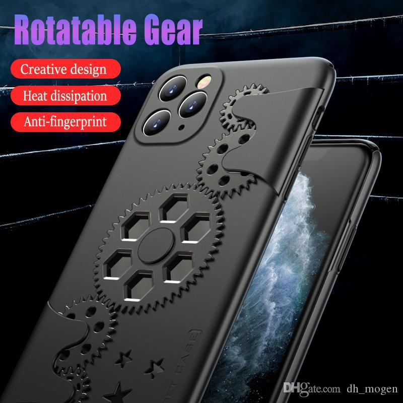 Cool Mecha Style Rotatable Gear Phone Case for IPhone 11 Promax XR for Huawei P30 Mate20 Honor 9XPro,cases with Heat Dissipation