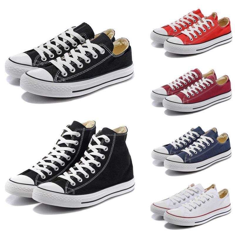 1970 Fashion Star sapatos Chuck lona estilo top sapatos baixos casuais todos os brancos azul vermelho dos homens das mulheres das sapatilhas de tamanho 36-44