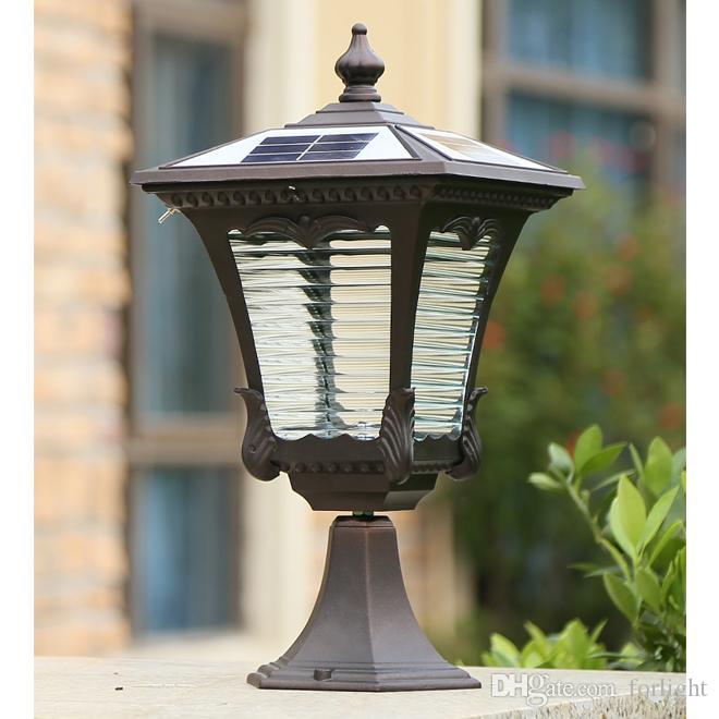 2021 New Arrivals Solar Power Post, Outdoor Lamp Post Lighting Fixtures
