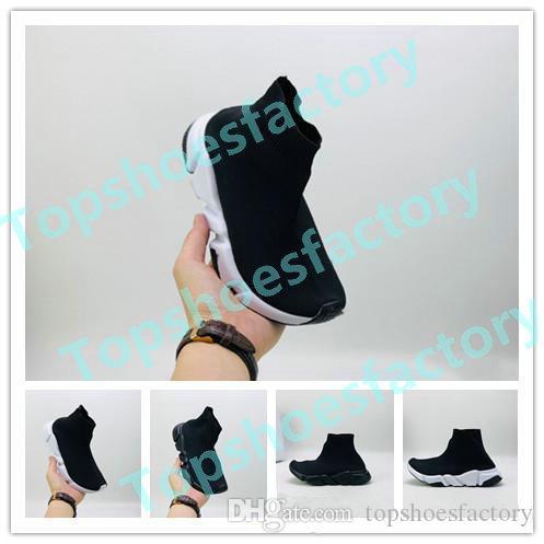 Balenciaga Kid Sock shoes Luxury Brand 파리 아동 양말은 신발 디자이너 양말처럼의 운동화 유아 청소년 크기 소년 신발에 24 ~ 36을 신발 최고 품질 어린이 enfants을 붓는다