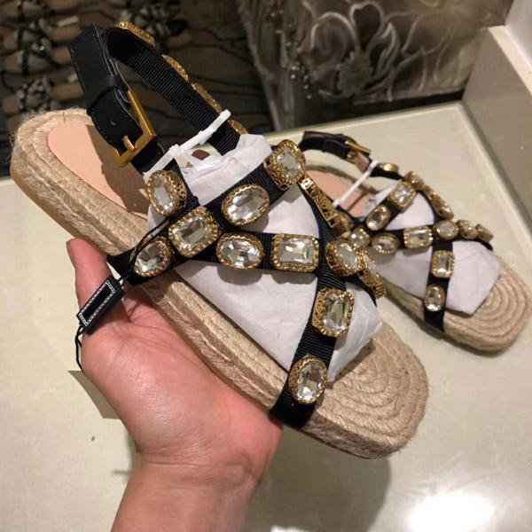 scarpe suola piatta cross-cravatta di vendita calda donne alla moda pizzo scarpe Espadris sandali casuali di gomma stampata BB pantofole flip-flop 35-41