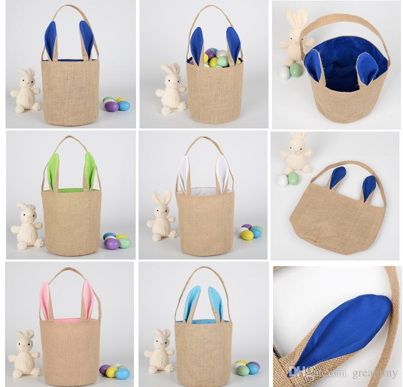 Tote Pâques gros lapin mignon sac de toile queue de Pâques Bucket lapin de Pâques Sacs enfants Panier Cadeau