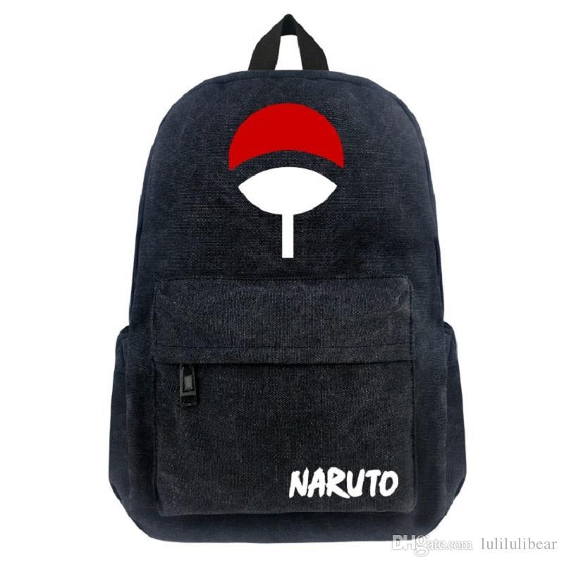 ناروتو قماش ظهره أزياء الأطفال أنيمي حقيبة مدرسية الهوكاجي ninjia الظهر للبنين المراهقين حقيبة سفر mochila اجتماعيون