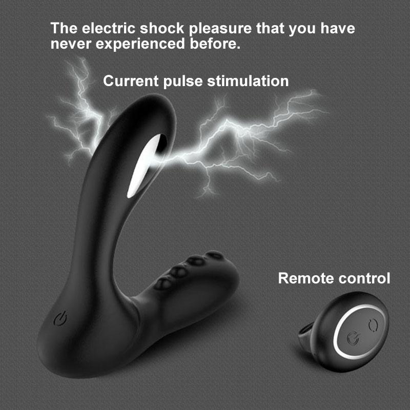 Électrocution de la prostate masculine Masseur Vibrateur Télécommande Anal Vibrateur Butt Plug Male Masturbateur Adult Sex Toys Pour Hommes Y190711