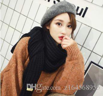 Korean Version of Pure Wool Scarf Winter New Shawl Art Retro College Style Student Warm Couple Style Neck