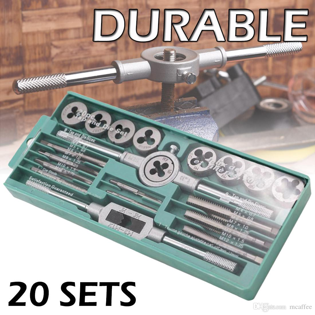 Alloy Steel Tap Die Set 1//16 1//2 Inch NC Screw Thread Plugs Taps Wrench Hand Tap