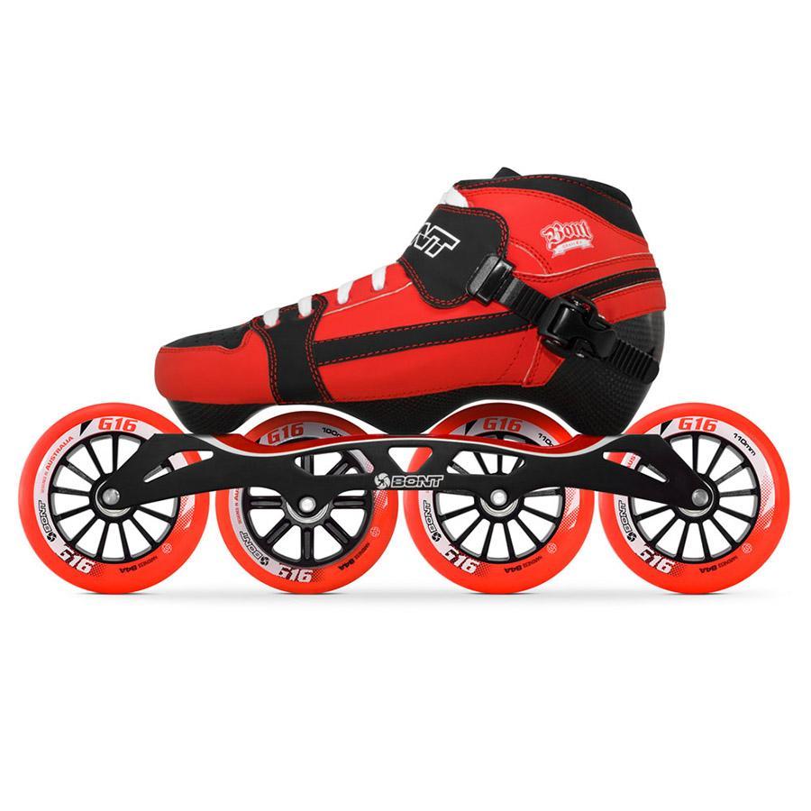 100% оригинал Бонт погоня 3pt скорость роликовые коньки Heatmoldable углеродного волокна загрузки S-Frame 7 G16 100/110 мм колеса катание патины