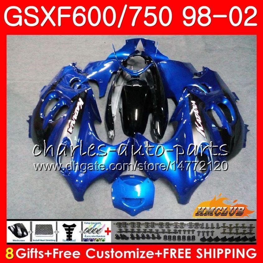 Corps de Suzuki Katatana GSX600F Stock Blue GSXF750 1998 1999 2000 2001 2002 2HC.39 GSXF 750 600 GSX750F GSXF600 98 99 00 01 02 Kit de carénage