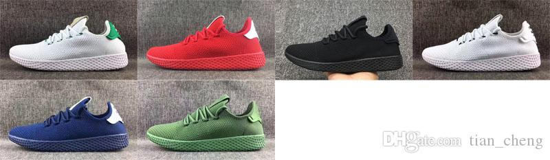2019 Tennis Hu Mens Running Shoes Pharrell Williams X Stan Smith Women Runner Sports Shoe White Green Trainers Designer Sneakers Running Sneakers
