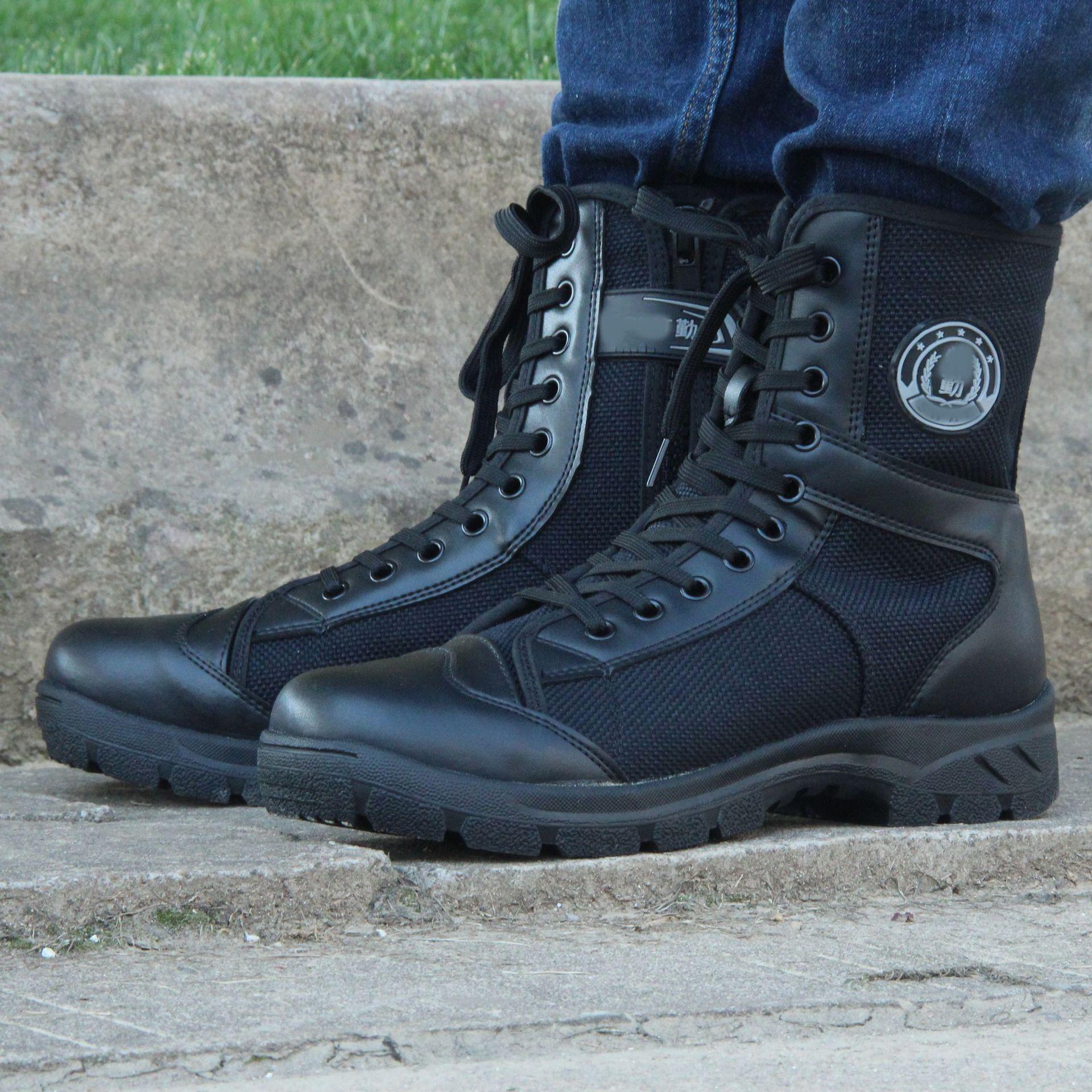 Motos Botas Homens da motocicleta sapatos à prova de vento Moto Motocross botas de protecção botas de montaria Para 39-45 Outono Inverno