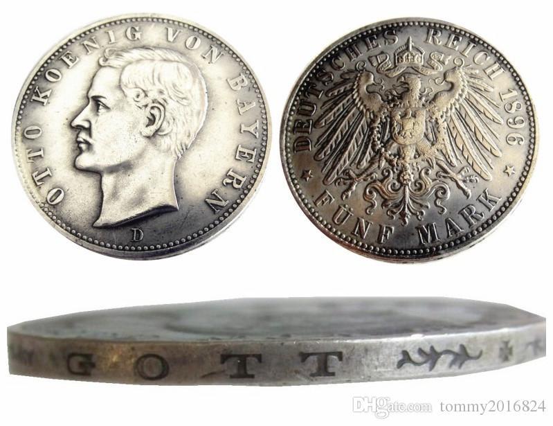 독일 독일 바이에른 동전 5 마크 실버 1896D 오토 복사 동전 도매