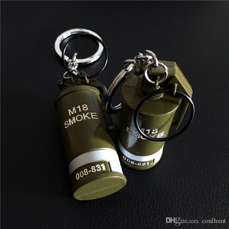 رائع pubg لعبة الدعائم نموذج المفاتيح سلاح لعبة دخان قنبلة 18 المعادن حلقة رئيسية سلاح نموذج المشجعين العسكرية ألعاب المفاتيح
