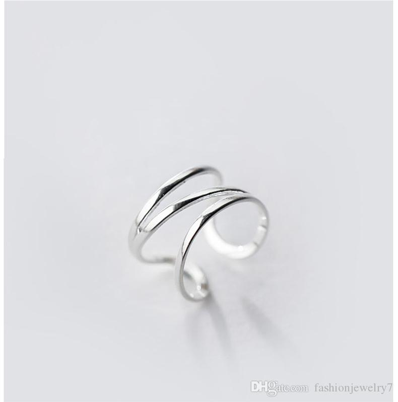 Fashion pinkie Small Size 3 ~ 5 little finger design 925 sterling silver ring female pinky jewelry for Elegant Women