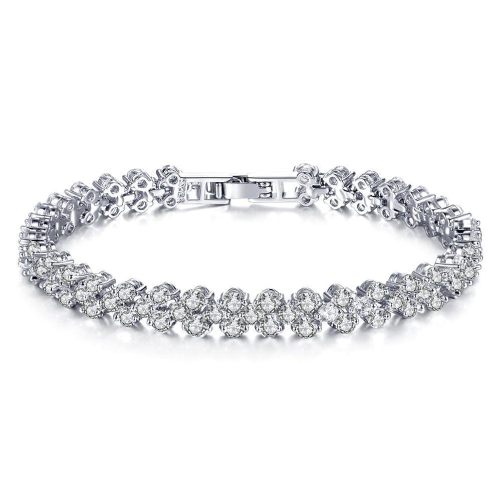 Silver Plated Multi Charm Bracelet Bijoux  Stacking Bracelet