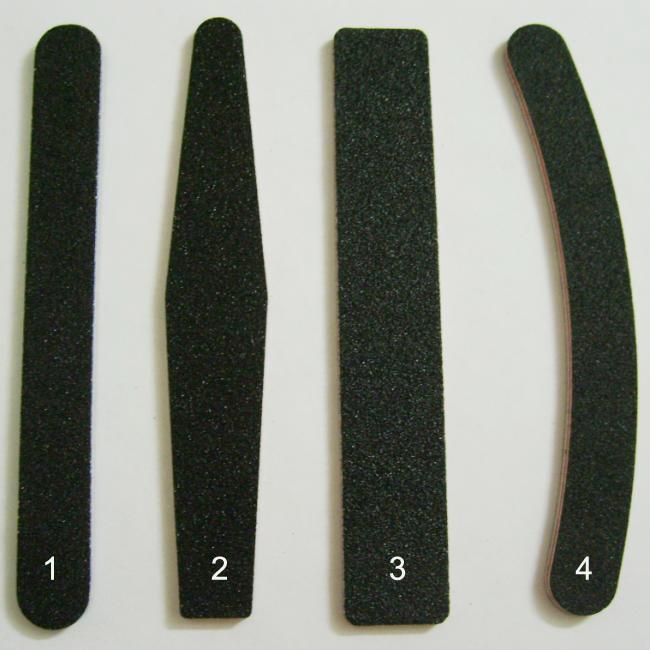 10 Stks 2 Way Black 100/180 Grit Banana Nail File Buffer Blok Nail Art Sanding Buffer Files voor Salon Manicure UV Gel Tips Wasbare bestanden