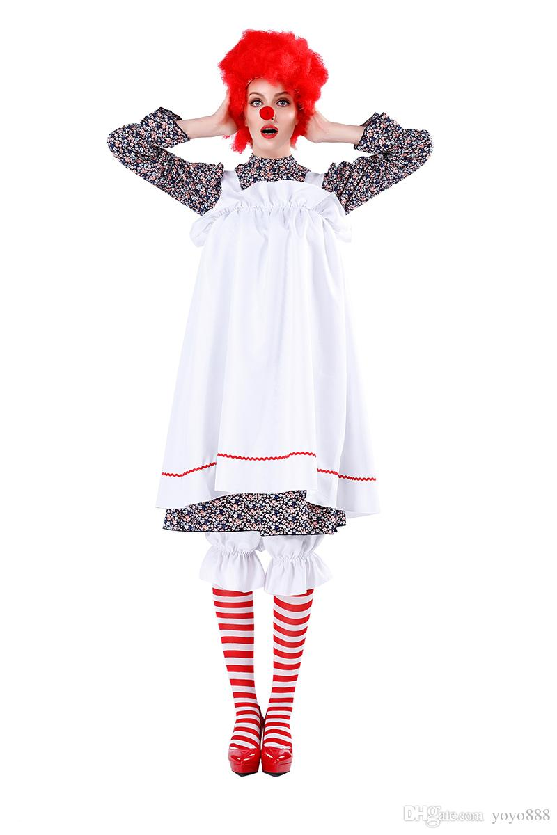2020 Sexy Womens Pennywise Costume It Cosplay Scary Clown