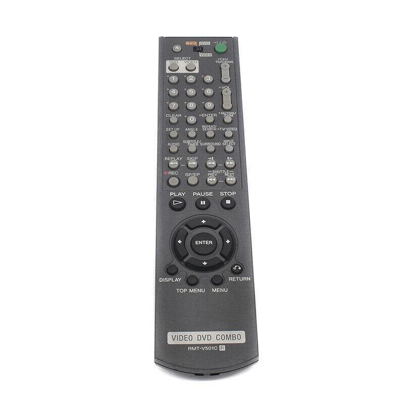 Original Combo Remote RMT-V501C for Sony Video DVD SLV-D251 D251P SLV-D350 D350P - Used
