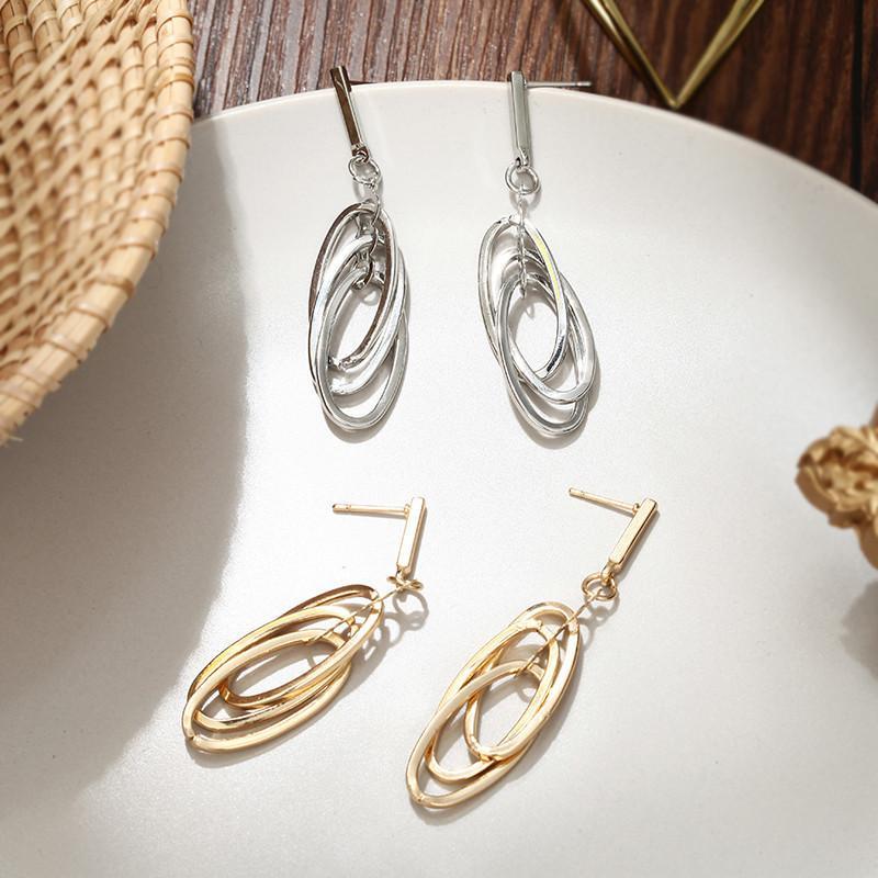 Unregelmäßige Hohl Geometrische Ohrringe Einfache Metall Ohrringe Böhmischen Indischen Schmuck Silber Gold Ohrringe Für Frauen Brincos
