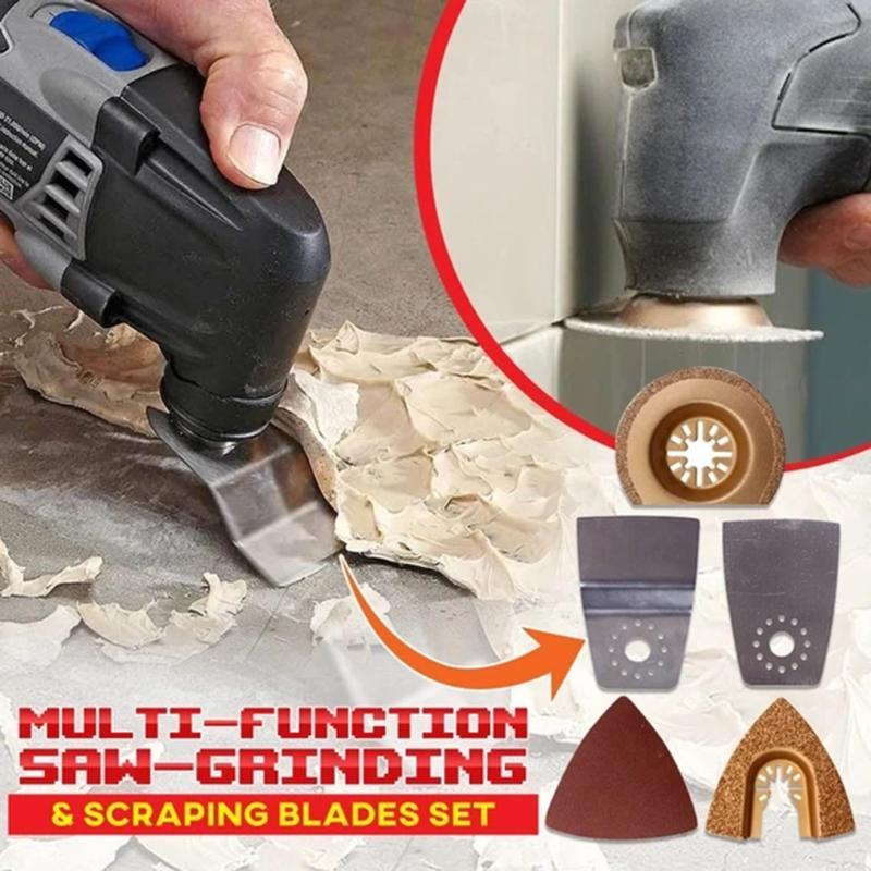 1set Multi-function Saw Blade Alloy High Carbon Steel Saw-Grinding Scraping Blades Set Chain Plate Tool Angle Grinding Tool