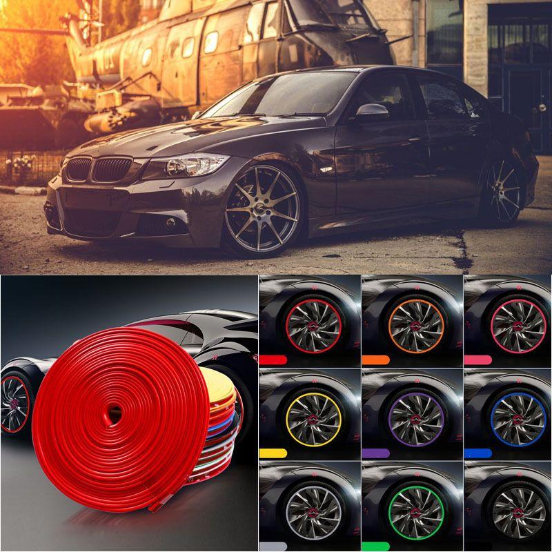 8M Auto-Radnabe-Rand-Rand-Schutz-Ring-Reifenstreifen-Guard-Gummi-Aufkleber-Abziehbilder für BMW E90