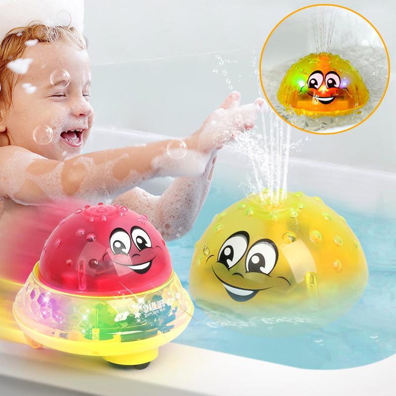 가벼운 음악 어린이 물 재미 유아 목욕 장난감 아기 전기 유도 스프링 볼은 볼 목욕 완구 어린이 놀이 스프레이