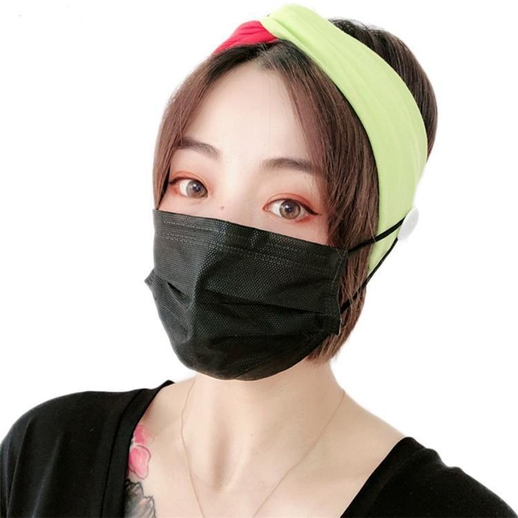 2020 новый 4 цвета лицо Маски ушная ленты для волос маски для лица уха Пряжки Упругих оголовий ухи Талрепа держатель Спорт оголовье Кнопка банданы