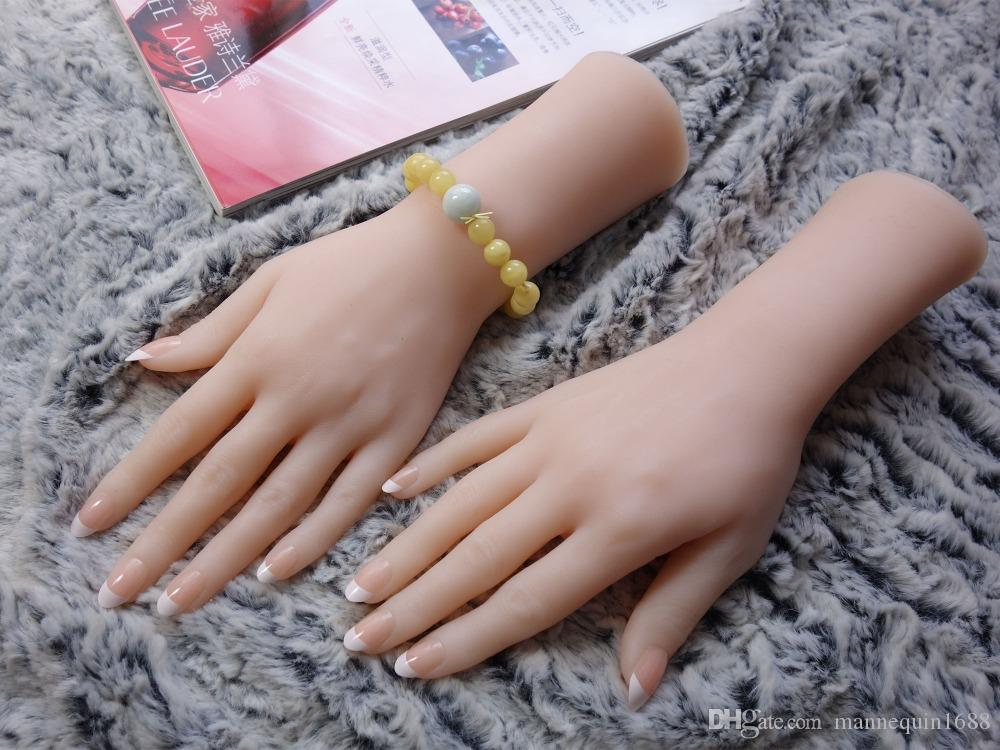 PINK GLASS RING JEWELRY DISPLAY HAND ~ ACCESSORIES MANNEQUIN ~