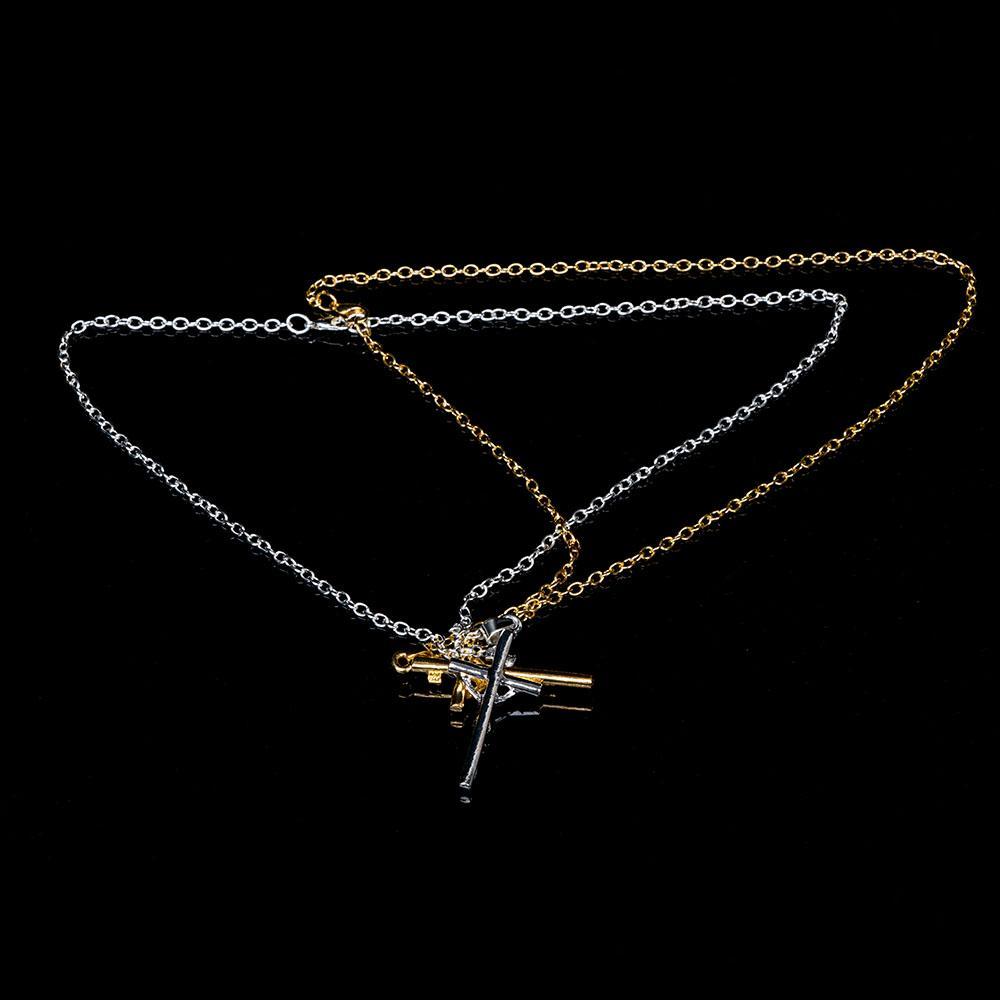 Crocifisso Croce Jesus Piece NecklacePendants Vintage Classic Punk Statement Collana Trendy uomo argento oro colore degli uomini gioielli