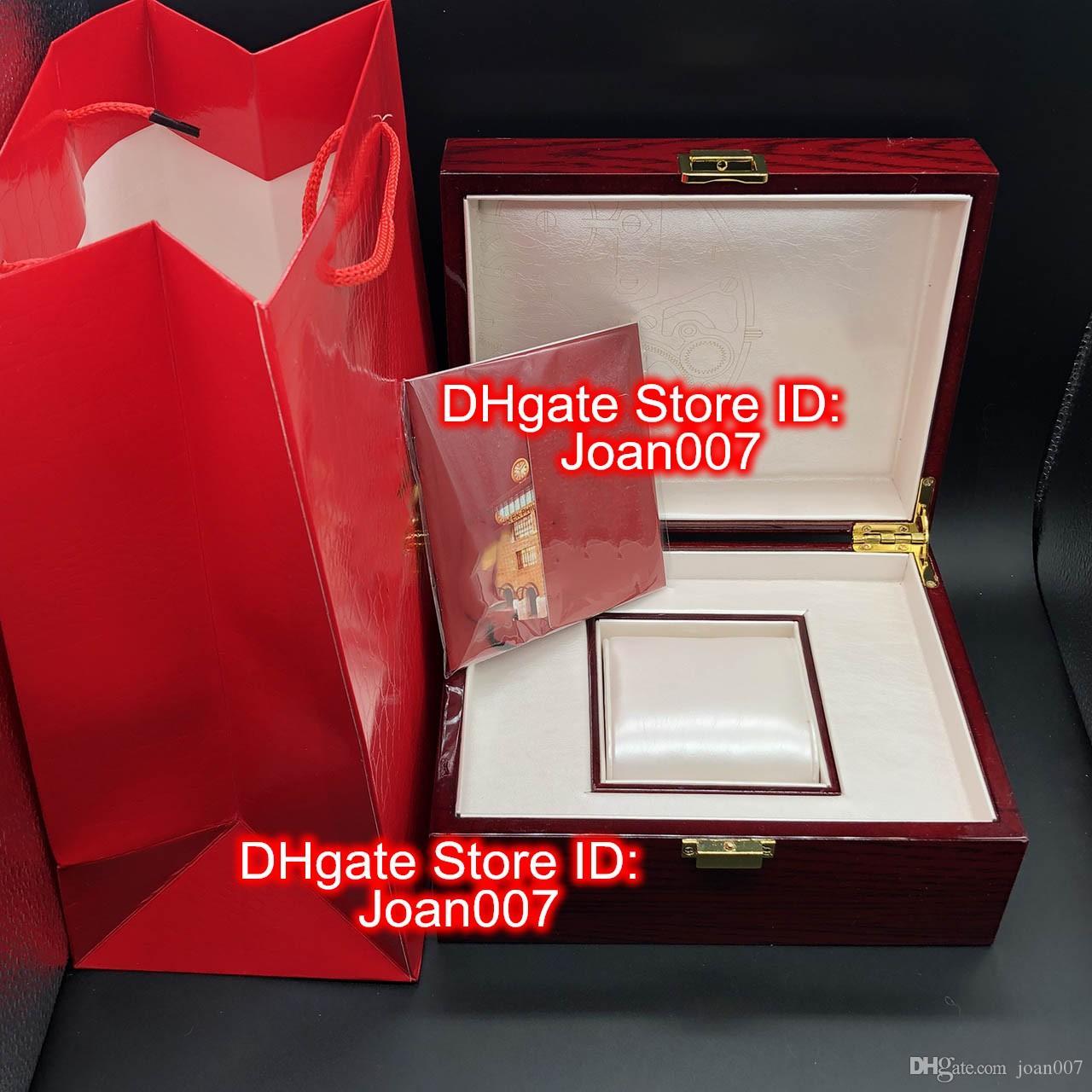 Nouvelle haute qualité Topselling Red Nautilus Regarder une boîte originale Box Carte Boîtes en bois Sac à main pour Aquaneut 5711 5712 5990 5980 Montres