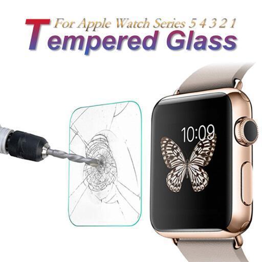 강화 유리 9H 증명 프리미엄 폭발 리얼 가드 보호 화면 보호기 애플 시계 시리즈 5 4 3 2 1 40mm의 44mm에서 38mm의 42mm 스포츠