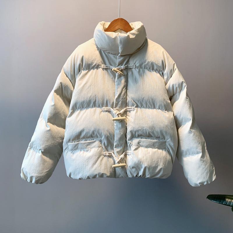 2019 женщин зимнее пальто с длинным рукавом стенд воротник женщины толстые теплые короткие пальто Casaco Feminino негабаритных парки женщин пальто DT191104