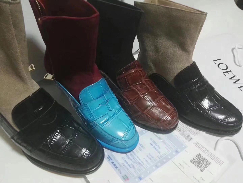 Горячие кожаные Мокасины Продажа-Крокодил с носка пинетки Уникальный конструктор Плоский каблук корова британских платье обувь для женщин