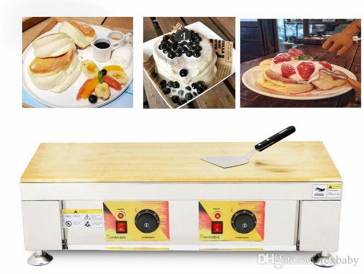 Souffler Makinası Çift tava Sufle Gözleme makine Souffler Waffle makinesi Makine Ticari Gözleme Gözleme Sufle