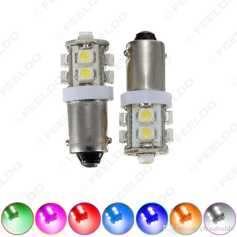 20 adet BA9S T4W W5W 1210/3528 10SMD İç Araba LED Işık Plaka LED Lamba 7-Color # 1507