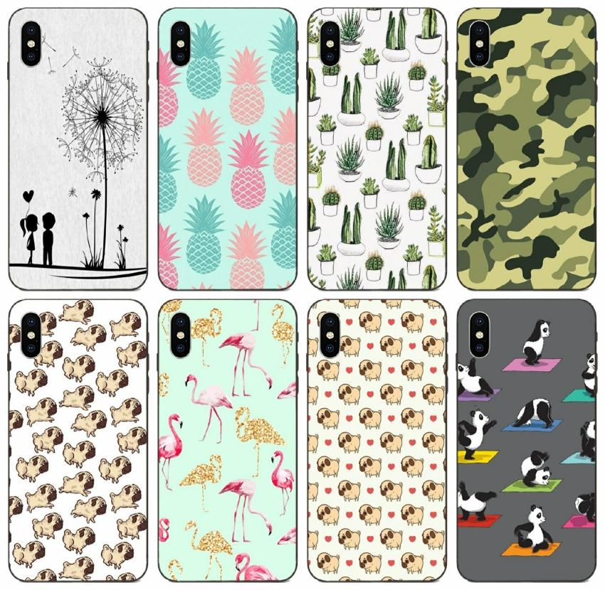 [TongTrade] Lips Pineapple Unicorn Flamingo Cactus Panda Case For iPhone 11 Pro Max X XS 8s 7s 6s 5s Samsung A9 Huawei Mate 9 Xiaomi 9 Case