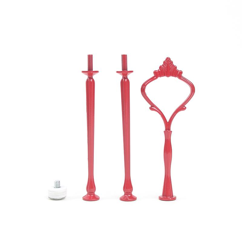 Metal 3-tier Cake Stand Rod Cake Stand Handle Cake Stand Fitting Hot Colors Style Free Shipping