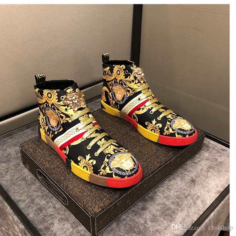 Acheter 2019A Nouvelles Chaussures De Sport Pour Hommes Occasionnels De Haute Pour Aider Les Chaussures De Sport De Voyage De Luxe Pour Hommes De