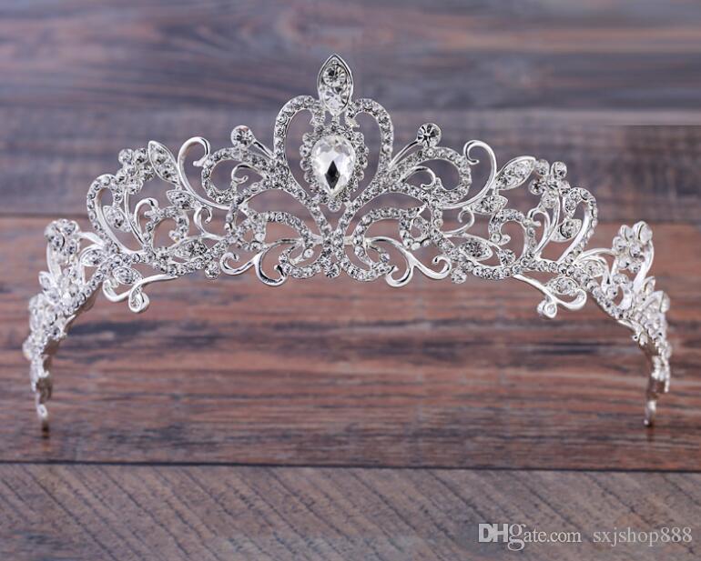 Wedding classic hair decoration bride Korean version of the fashion diamond crown big crown wedding headdress