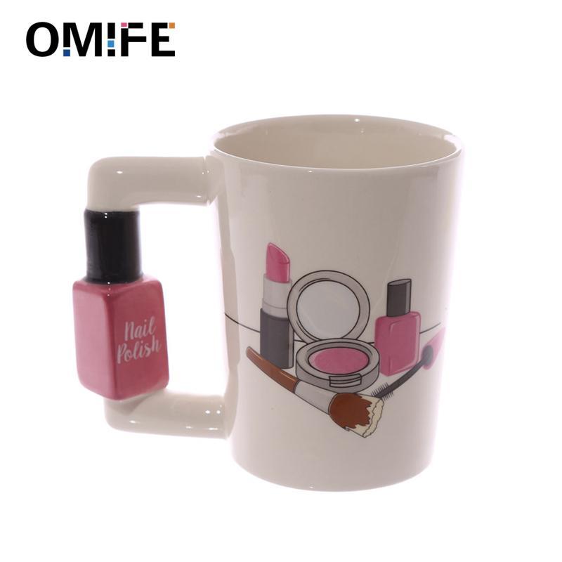 Omife الإبداعية الفخار السيراميك فنجان القهوة القدح الشاي الخزف لطيف أكواب عيد الميلاد مضحك الكؤوس والأقداح السفر البهلوان