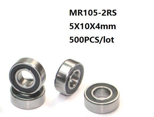 Double Metal Rubber Sealed Ball Bearing Orange MR105-2RS 5x10x4 mm 25 PCS