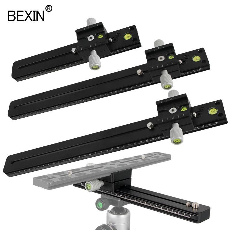 Trépied tas Monopodes BEXIN panoramique long téléobjectif double couche pince de plateau rapide Arca caméra Swiss Clamp Adaptateur support de montage ...