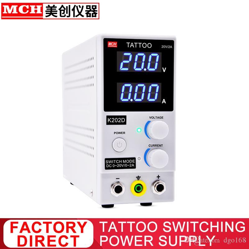 18V 20V 2A Tatuagem Fonte de alimentação ProfessionalDC Alimentação Para Tattoo Machine K202D K202W
