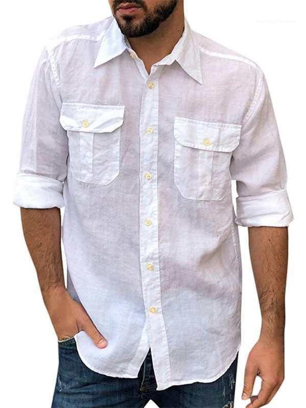 T-Shirt Art und Weise beiläufiger Breathable Mens Tops Sommer-Down-Kragen Herrenmode Thin Langarm Herren drehen